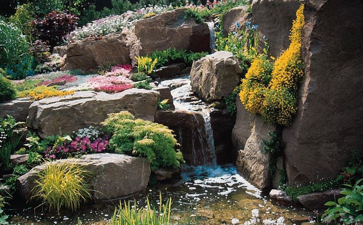 stone waterfall designs - Google Search