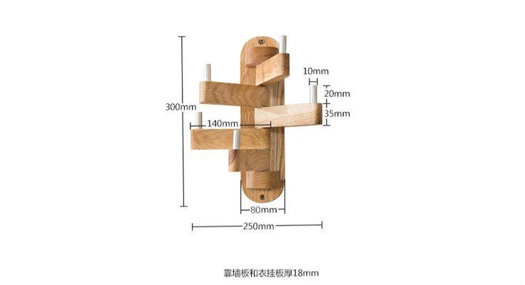 Творческий спальня простой вращающийся вешалка Дуб украшения Стены вешалка вешалка дома твердая древесина висит крюк купить на AliExpress