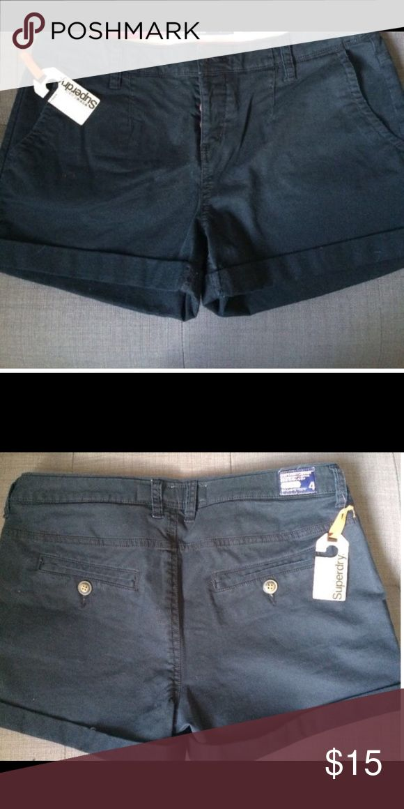 Superdry Navy Blue Shorts size S / color: navy blue / never worn / sooo cute Superdry Shorts