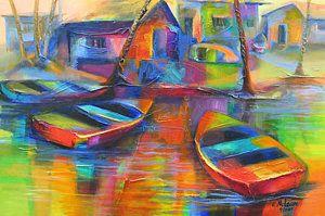 Trinidad Painting - Fishing Village by Cynthia McLean
