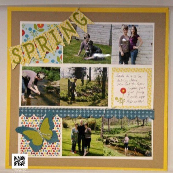 Spring Smooches Scrapbook Page!: Scrap Inspiration, Scrapbooking Inspirations, Scrapbook Layouts, Easter Spring Layouts, Inspiring Scrapbook, Scrapbook Fun, Craft Ideas, Grid Layouts