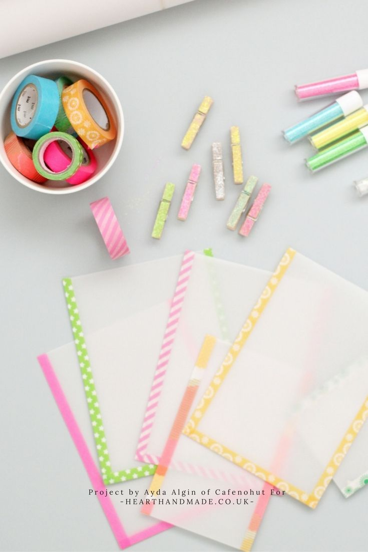 Washi Tape is a wonderful crafty tool that you can use in so many different crafts! How To Make Wonderful Wax Paper Bags With MT Tape http://www.hearthandmade.co.uk/mt-tape/