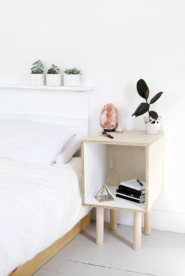 DIY Cube Side Table @themerrythought