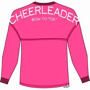 Cheerleader BOW TO TOE Spirit Football Jersey Hot Pink by Cheerleading Company