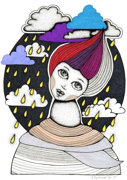 Thoughts of night rain Art Print by AnnaRapcanova   Society6