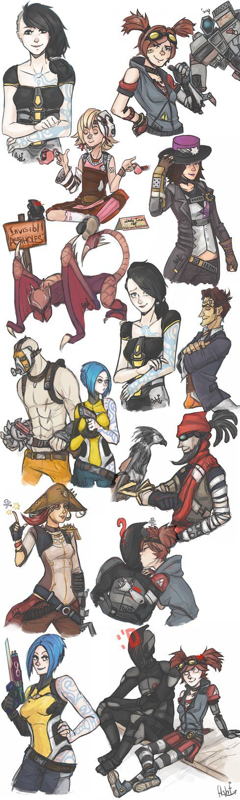 { sketchdump } april 2014 - borderlands. by CarrieAsh
