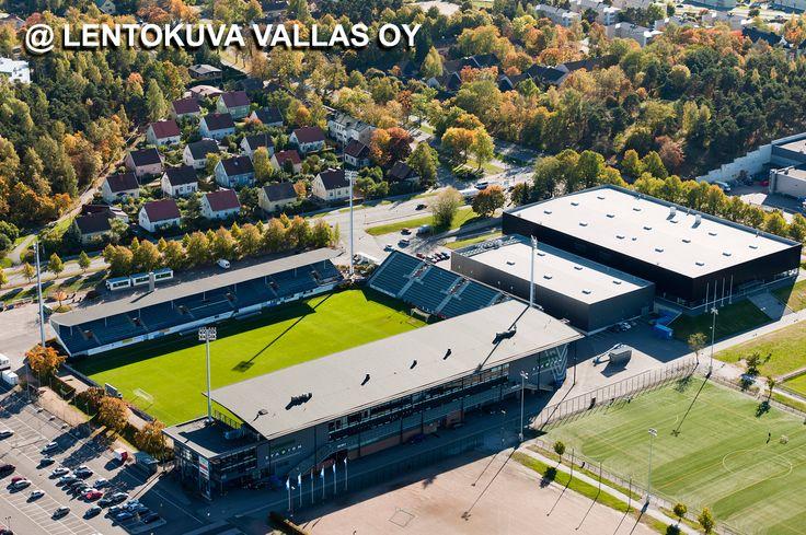 Kupittaan jalkapallostadion Ilmakuva: Lentokuva Vallas Oy