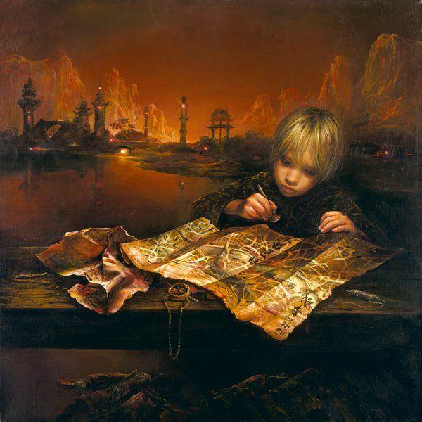 """THE MAP"" By Akiane Kramarik ~beautiful Painting"