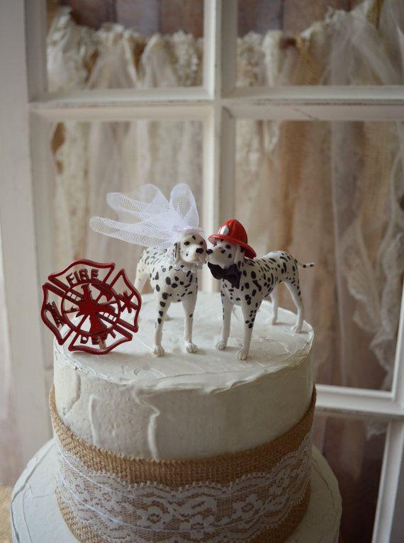 Firefighter dalmatian themed wedding cake von MorganTheCreator