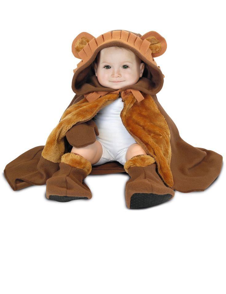 Déguisement bébé Lion : Cedéguisement de lion pour bébécomprend unecapeaveccapuche, une paire demoufleset une paire dechaussons(t-shirt blanc non...