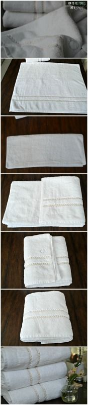 How to fold bath towels like a hotel