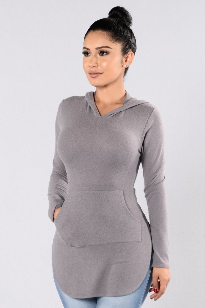 - Available in Light Purple and Mauve - Fuzzy Hooded Dress - Knee Length - Rounded Hem - Long Sleeve - Center Pocket - Made in USA - 65% Rayon 32% Polyester 3% Spandex
