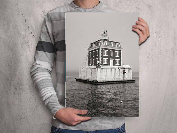 Lighthouse Photo Print, New London CT, Cottage Decor, Beach Style Prints, Housewarming Gift 1997