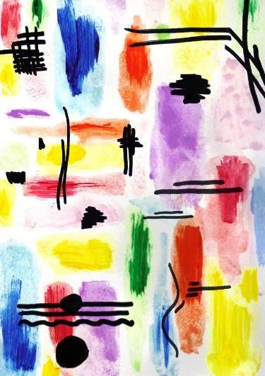 "Saatchi Art Artist Milena Martinez; Painting, ""Primary Dance"" #art"