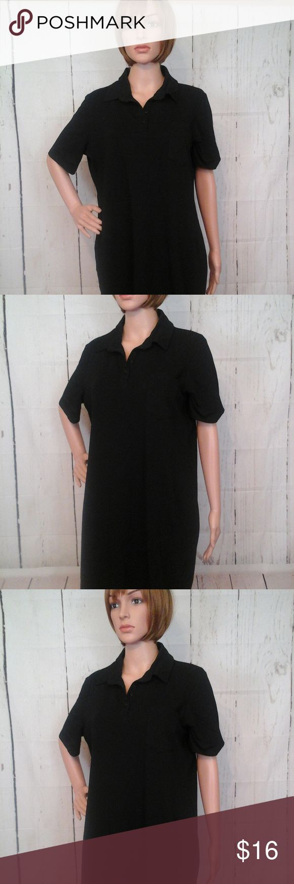 "Asos Black Sz 14 Curve Polo Tee Shirt Shift Dress New with Tags  Chest = 22"" (armpit to armpit - across the front) Length = 38"" (shoulder to hem) Material:  Features:   No trades or modeling of clothing, jewelry, shoes or accessories.  If additional measurements are required to ensure the perfect fit for you, I will gladly provide them. All items are from a smoke-free/pet-free home. ASOS Curve Dresses"