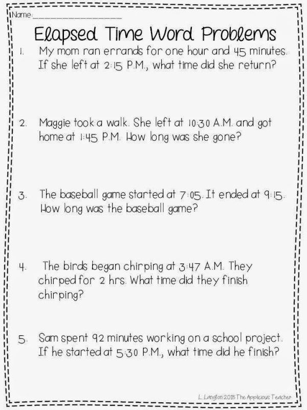 Elapsed Time Activities And A Free Download Time Worksheets Elapsed Time Worksheets Math Time Free worksheets download for grade 3