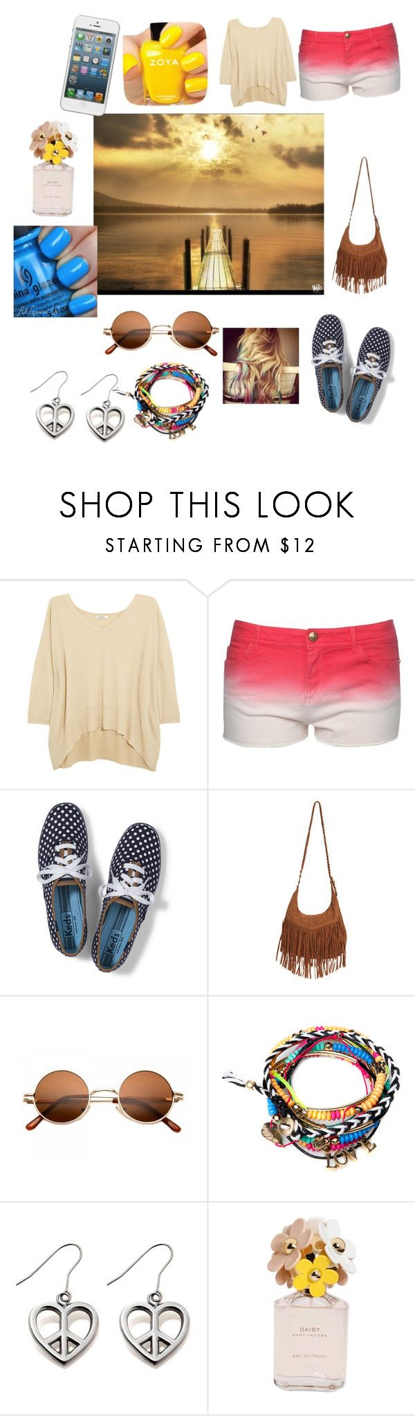 """""""Summer by the lake look"""" by hannah-collins-1 ❤ liked on Polyvore featuring Zoya, N.Peal, Jane Norman, Keds, Wet Seal, Pull&Bear, Marc Jacobs and China Glaze"""
