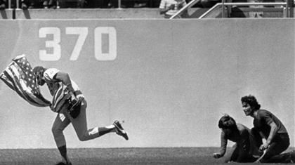 On this day in history Rick Monday saved the American flag. Maybe the greatest play in baseball history.