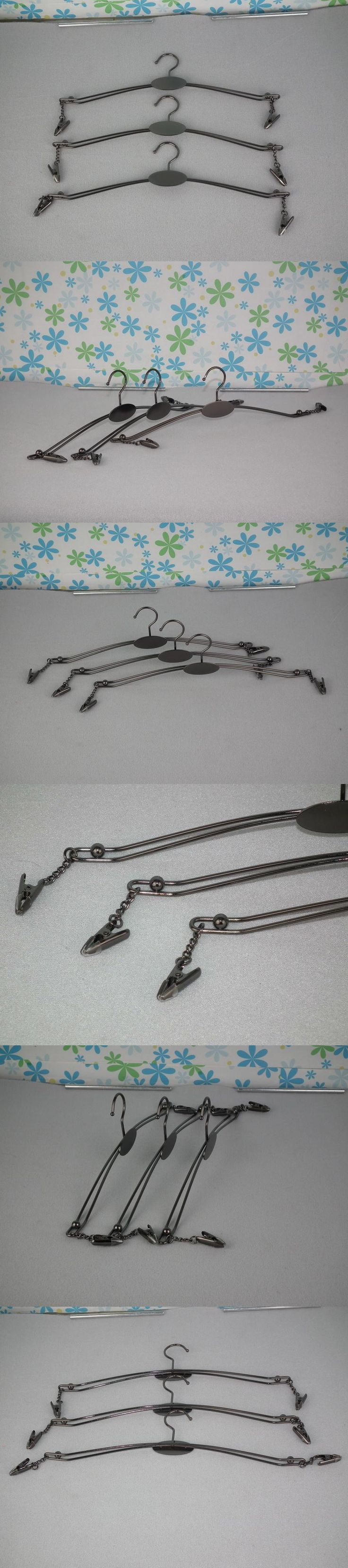 Guangdong factory direct hot sale plating  black Nickel  two-wire bra hangers