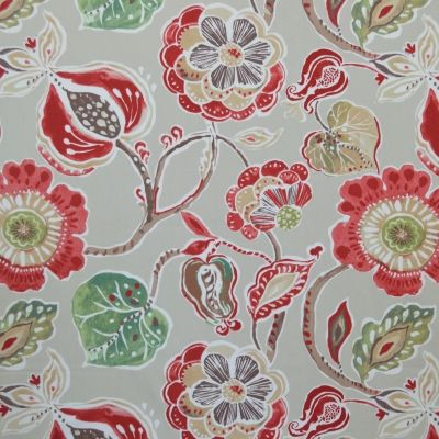Lamorna Sienna 100% cotton 140cm 64cm Curtaining