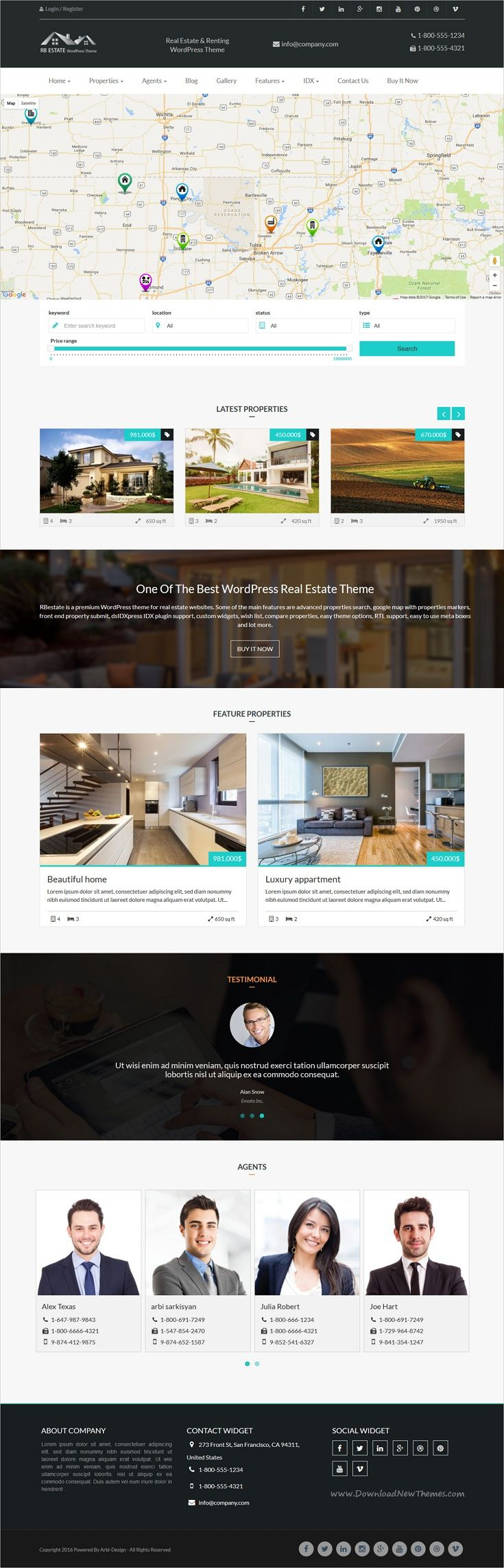 RBestate is a premium #WordPress theme for real estate and #renting websites with MLS IDX #Listing and properties advance search download now➩  https://themeforest.net/item/rbestate-responsive-wordpress-real-estate-theme/16729659?ref=Datasata