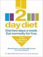 "The 2-Day Diet by Dr. Michelle Harvie & Professor Tony Howell (2013)  is a diet book in some ways similar to recently popular intermittent fasting books. It calls for a restricted diet for 2 days a week, and a low-fat Mediterranean diet for the other 5 days. 2 days restricted diet: low calorie, high protein, low carb, low fat, limited dairy, some produce. 5 days ""unrestricted"" diet: moderate calorie, moderate protein, unprocessed carbs, low fat, limited dairy, some produce."