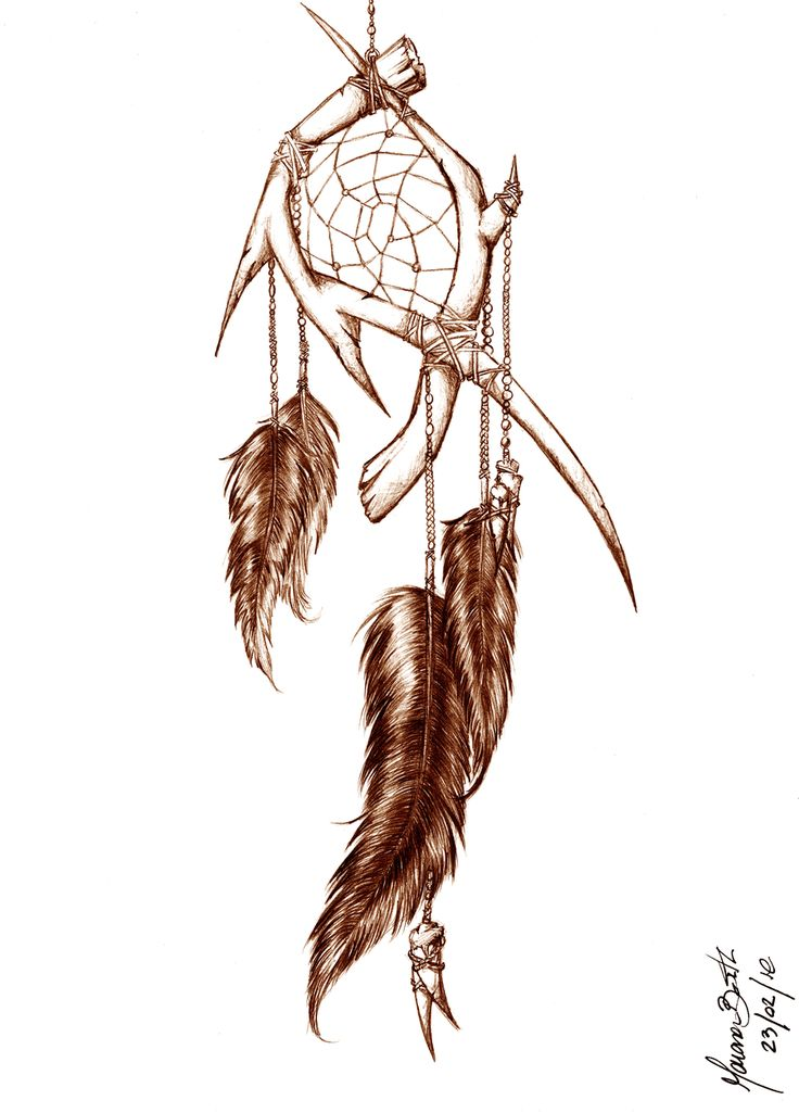drawings dream catchers | Dreamcatcher by m0rrighan