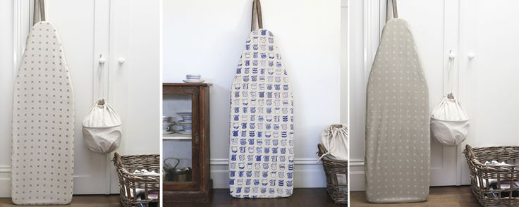 Featuring signature china blue prints prints, this un-padded board cover steams out wrinkles in style, while also protecting the ironing board from varying heats of the steam iron. #ironingboard #covers #padded