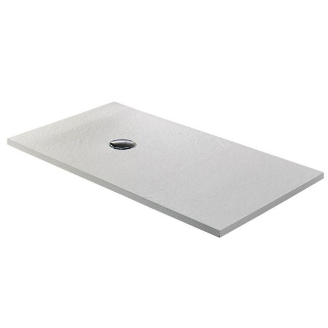Plato de ducha de carga mineral propuesto, antideslizante y extraplano, de 140x70cm.