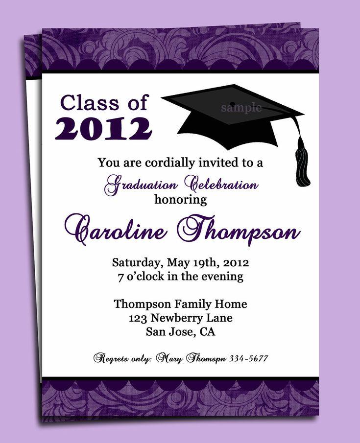 17 best invites images on pinterest | graduation parties, Invitation templates