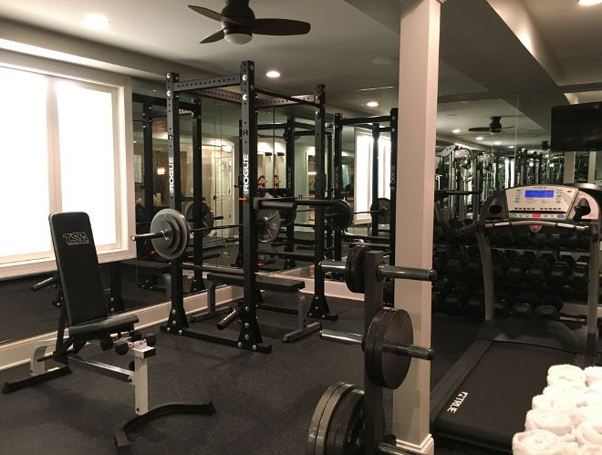 Top 25 Ideas About Home Gym Basement On Pinterest