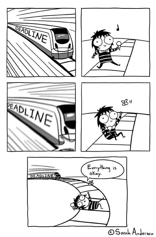 Sarah's Scribbles :: Deadline   Tapastic Comics - image 1