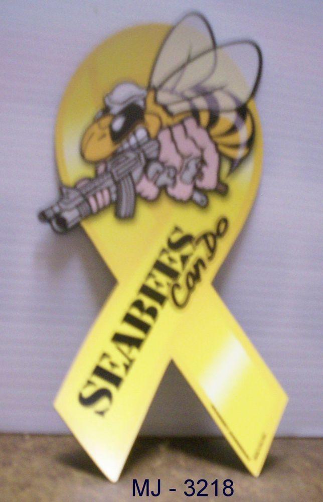 Seabees Ribbon Magnet