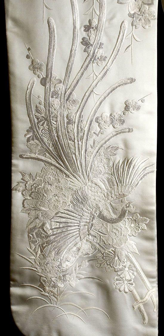 Japanese Embroidered Shiromuku (Detail) MARLA MALLETT