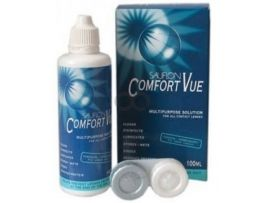 Solutie Intretinere Sauflon Comfort Vue 100ml + suport lentile cadou