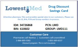 Compare prices and find coupons for prescription drugs. Enter the details of your prescription and it'll find competitive prices for OTC or prescription drugs. They also offer a drug discount savings card that can help save you money every time you purchase a prescription.