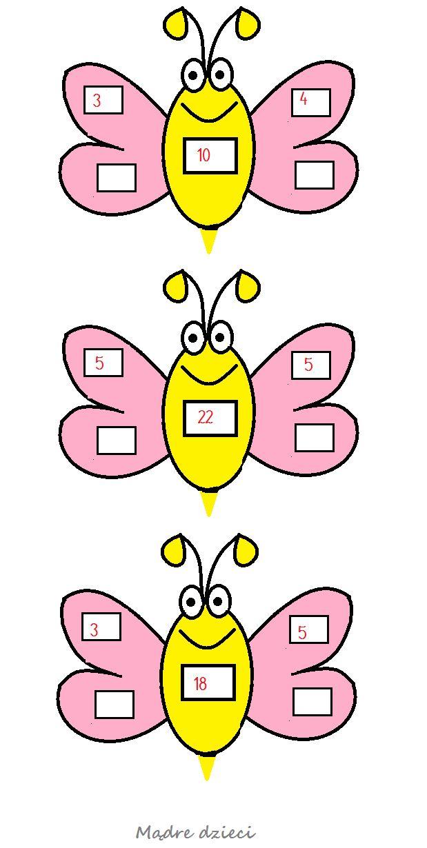 Dodawanie i odejmowanie z owadami i cukierkami - Mądre dzieci