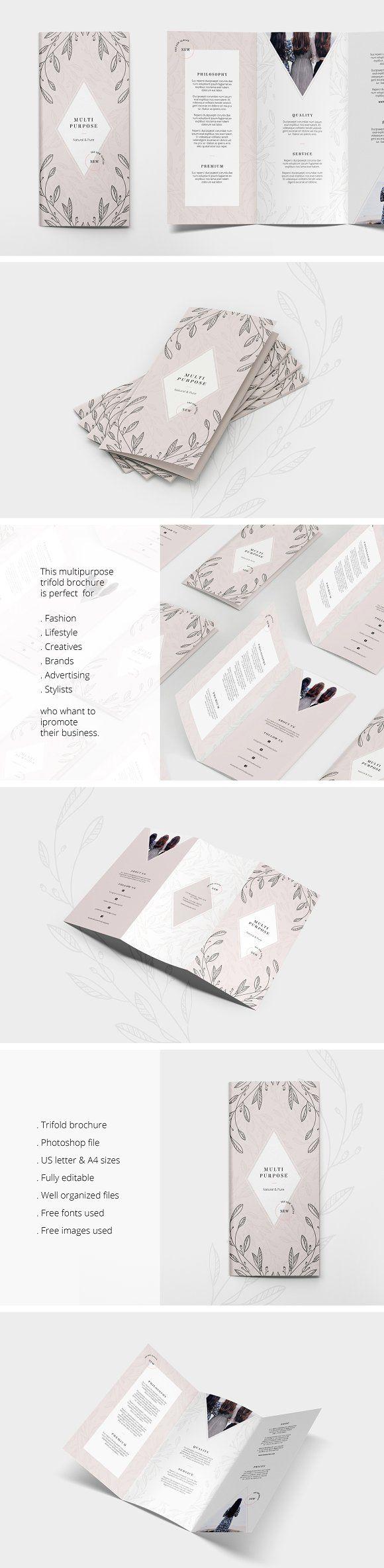 Multipurpose Trifold Flyer by AgataCreate on @creativemarket