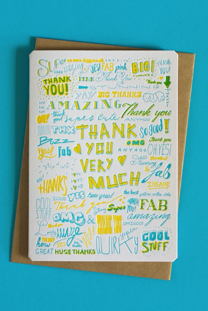 Thank you card by The Hungry Workshop.