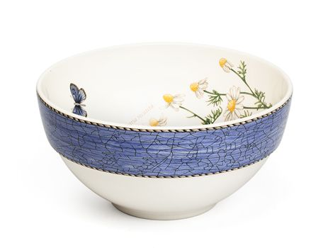 """#wedgwood """"Sarah's Garden"""". This 18cm mixing bowl is rendered in simple, elegant earthenware and features a subtle pastel borders and lovingly hand-rendered botanical motifs. #thomasjewellers"""