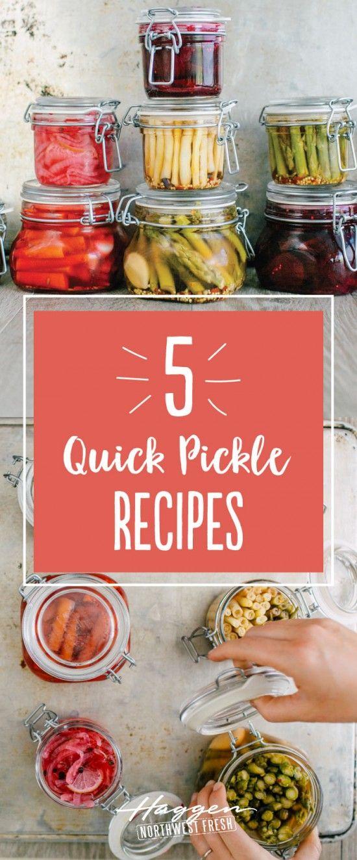 5 Quick Pickle Recipes