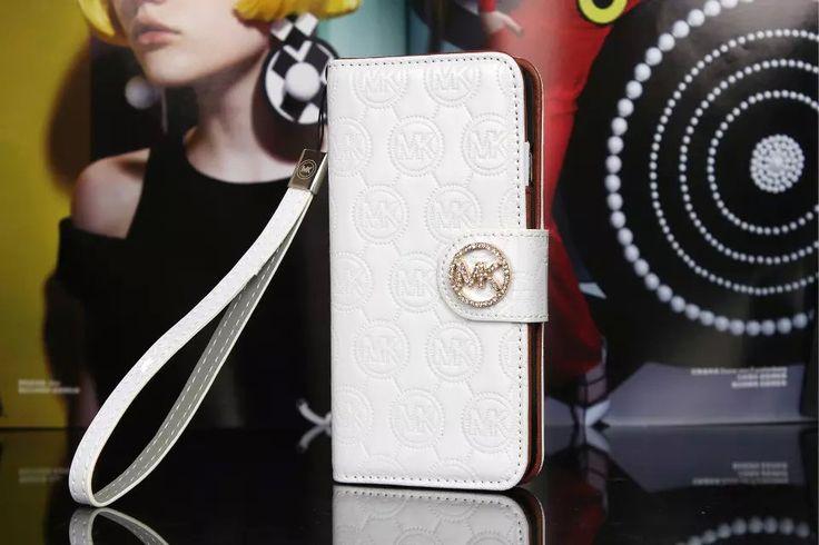 Michael Kors iPhone 7 Case Wallet MK Bling Vernis Cover White