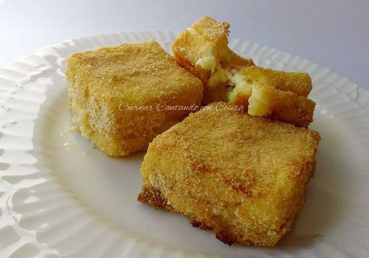 Eccomi qui di nuovo a presentarvi una ricetta da leccarsi i baffi,molto semplice,di solitola faccio dopo una bella polentata,con la polenta che