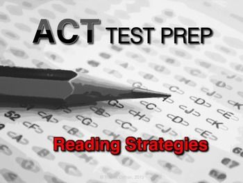 ACT reading strategies test-preparation presentation - free download #testprep #ACT