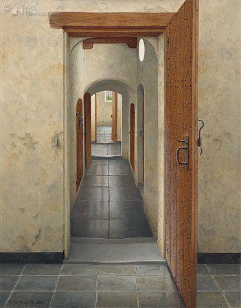 Gang in het oude klooster van Elburg By Maarten't Hart