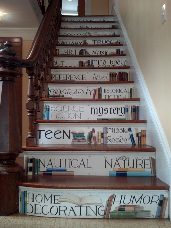 44 best images about book staircases on pinterest book nooks bookcases and stair storage - Staircases with integrated bookshelves ...