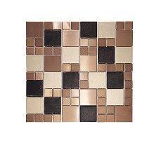 Metallic Random Copper Mix Mosaic Tile