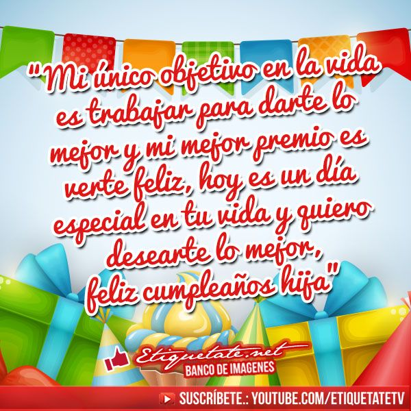 Imagenes con frases de feliz cumplea os para mi hija family phrases videos happy birthday - Mi tarjeta family ...