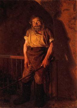 Ярошенко Николай Александрович.  Кочегар. 1878 Холст, масло 124 x 89