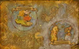 World of Warcraft Cosmic Map, showing Azeroth ...